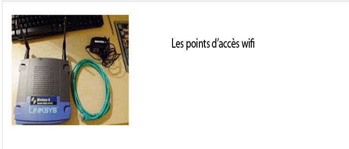Les points d'accès wifi